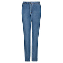 Buy Mango Tencel Trousers, Medium Blue Online at johnlewis.com
