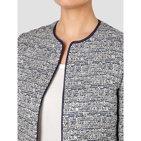 Buy Jaeger Metallic Tweed Jacket, Navy Online at johnlewis.com