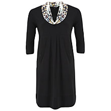 Buy Chesca Jersey Dress Sequin Collar, Black Online at johnlewis.com