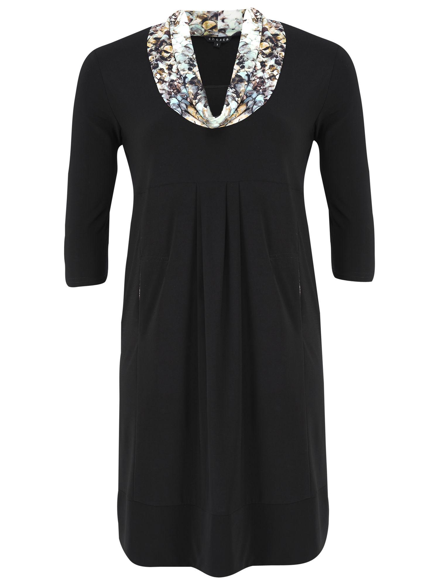 chesca jersey dress sequin collar black, chesca, jersey, dress, sequin, collar, black, 12-14|16-18|20-22|24-26, women, womens dresses, 1261422