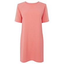Buy Warehouse Organza Insert Textured Dress, Coral Online at johnlewis.com