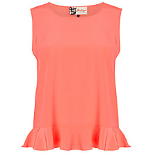 Buy Boutique by Jaeger Frill Hem Top, Bright Coral Online at johnlewis.com
