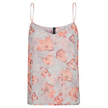 Buy Mango Floral Vest Top, Pastel Pink Online at johnlewis.com