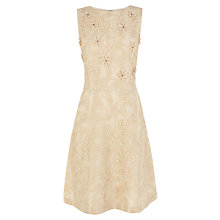 Buy Warehouse Organza Flower Embroidered Dress, Cream Online at johnlewis.com