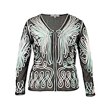 Buy Chesca Eagle Ombre Cornelli Emb Mesh Blouse, Opal Online at johnlewis.com