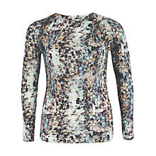 Buy Chesca Sequin Print Jersey Top, Opal Online at johnlewis.com