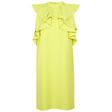 Buy Miss Selfridge Front Frill Dress, Lime Online at johnlewis.com