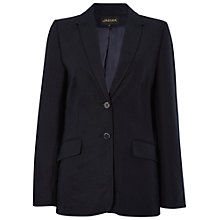 Buy Jaeger Longline Linen Blazer, Navy Online at johnlewis.com