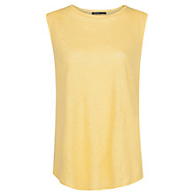 Buy Mango Curved Hem Linen Top Online at johnlewis.com
