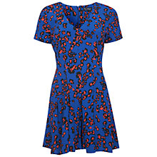Buy Miss Selfridge Leopard Print Playsuit, Dark Blue Online at johnlewis.com