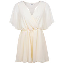 Buy Miss Selfridge Embellished Back Playsuit, Ivory Online at johnlewis.com