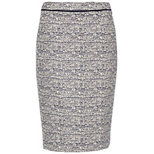 Buy Jaeger Metallic Tweed Skirt, Navy Online at johnlewis.com