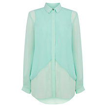 Buy Warehouse Mix Panel Shirt Online at johnlewis.com