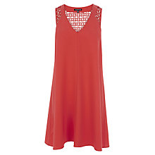 Buy Warehouse Lace Detail Swing Dress, Orange Online at johnlewis.com