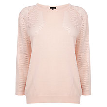 Buy Warehouse Geo Pointelle Lace Jumper Online at johnlewis.com