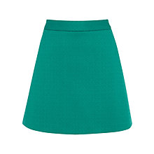 Buy Warehouse Formed Jacquard Skirt, Teal Online at johnlewis.com