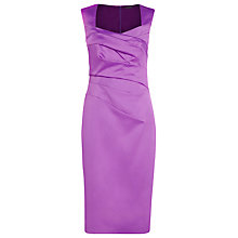 Buy Alexon Sateen Dress, Purple Online at johnlewis.com