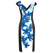 Buy Alexon Printed Panel Sateen Dress, Multi Online at johnlewis.com
