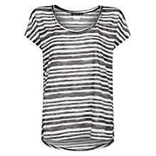 Buy Mango Watercolour Striped T-Shirt, Natural White Online at johnlewis.com