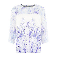 Buy Kaliko Wisteria Floral Blouse, Blue Online at johnlewis.com