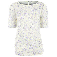 Buy Kaliko Blossom Tiered Blouse, Green Online at johnlewis.com