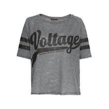 Buy Mango Voltage Oversized T-Shirt, Pastel Grey Online at johnlewis.com