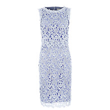 Buy Kaliko Floating Bodice Lace Dress, Blue Online at johnlewis.com