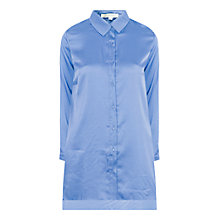 Buy True Decadence Satin Swing Shirt Dress, Light Blue Online at johnlewis.com