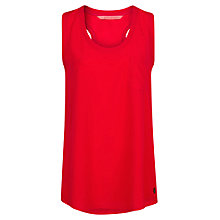 Buy Mango Ribbed Edge Vest Top, Bright Red Online at johnlewis.com