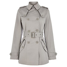 Buy Warehouse Zip Cropped Mac, Light Grey Online at johnlewis.com