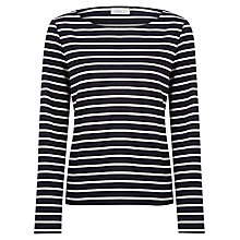 Buy Kaliko Breton Stripe Jersey Top, Navy Online at johnlewis.com