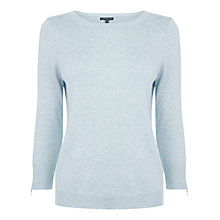 Buy Warehouse Zip Cuff Crew Neck Jumper Online at johnlewis.com