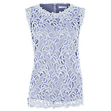 Buy Kaliko Lace Shell Top, Blue Online at johnlewis.com