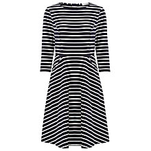 Buy Kaliko Stripe Skater Dress, Navy Online at johnlewis.com