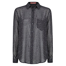 Buy Mango Printed Lightweight Shirt, Navy Online at johnlewis.com
