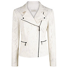 Buy Kaliko Lace Biker Jacket, White Online at johnlewis.com