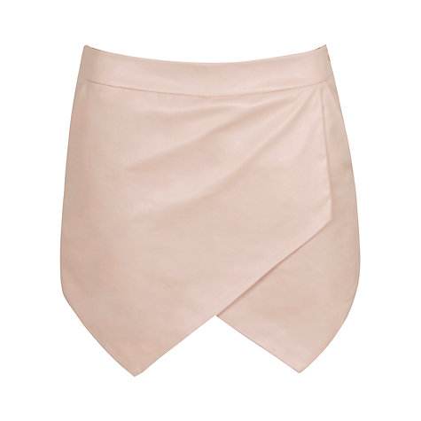 Buy True Decadence PU Skort, Light Pink Online at johnlewis.com
