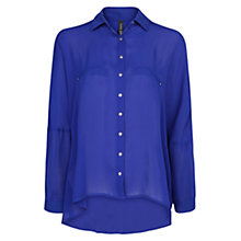 Buy Mango Metallic Button Flowy Shirt Online at johnlewis.com