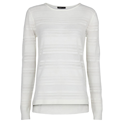 Buy Mango Transparent Striped Sweater Online at johnlewis.com