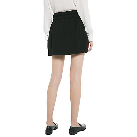 Buy Mango Crepe Skirt, Black Online at johnlewis.com
