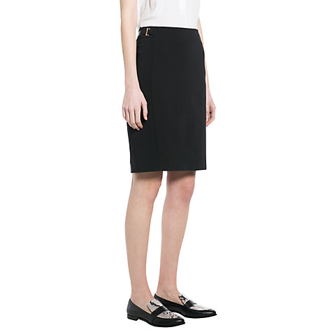 Buy Mango Tabbed Waist Pencil Skirt, Black Online at johnlewis.com
