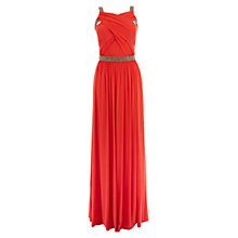 Buy Coast Lauder Jersey Maxi dress, Coral Online at johnlewis.com