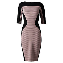 Buy Closet Wide Rib Bodycon Dress, Pale Pink Online at johnlewis.com