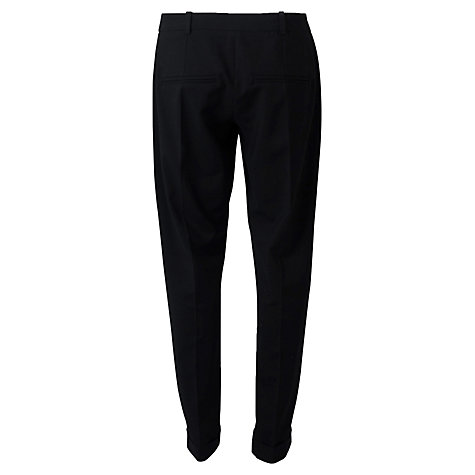 Buy Closet Pleat Front Turn-Up Trousers, Black Online at johnlewis.com