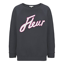 Buy Whistles Fleur Logo Sweat, Navy Online at johnlewis.com