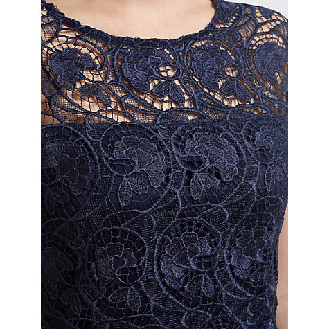 Buy Gina Bacconi Modern Floral Guipure Dress, Spring Navy Online at johnlewis.com