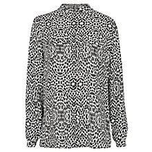 Buy Mango Printed Shirt, Black Online at johnlewis.com