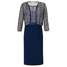 Buy Gina Bacconi Moss Crepe Jacket And Dress, Navy Online at johnlewis.com