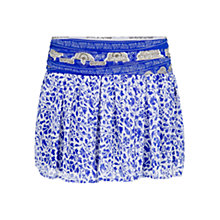 Buy Mango Printed Boho Skirt, Bright Blue Online at johnlewis.com