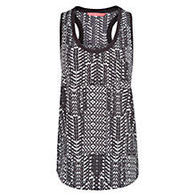 Buy Mango Printed Vest Top, Black Online at johnlewis.com